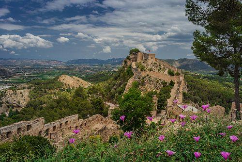 Kasteel van Xàtiva (Castillo de Xativa) in de buurt van Valencia