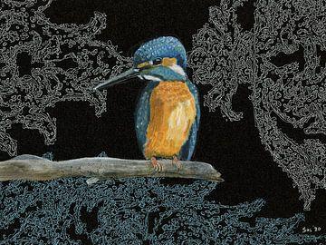 Eisvogel von Saskia de Groot