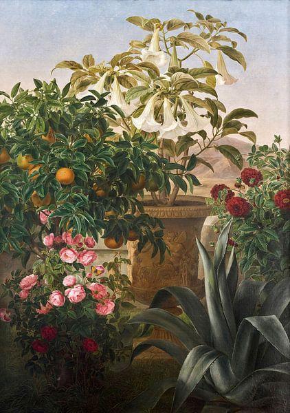 Johan Lauritz Jensen (1800-1856)-Florales Leben noch am Leben von finemasterpiece