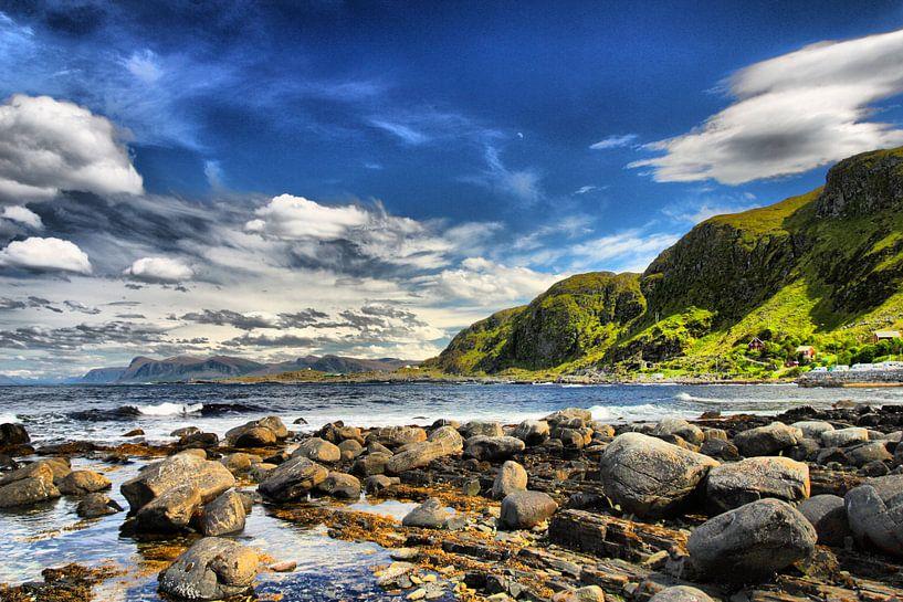 Küste in Norwegen von Patrick van Oostrom