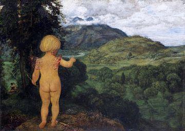 Amor erspäht die Liebenden, HANS THOMA, 1886 von Atelier Liesjes