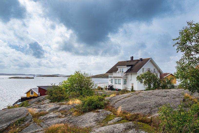 Gebäude in Mollösund in Schweden von Rico Ködder