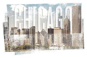 CHICAGO Skyline | Vintage van Melanie Viola