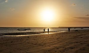 Zonsondergang op Jimbaran Beach Bali van