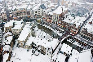 Utrecht Oudegracht im Schnee von