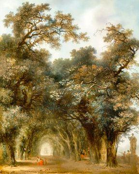 Eine schattige Allee Künstler-Jean Honoré Fragonard (französisch, Grasse 1732-1806 Paris) remastered von Lars van de Goor