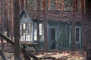Schoolkamp terrein vlakbij Chernobyl van