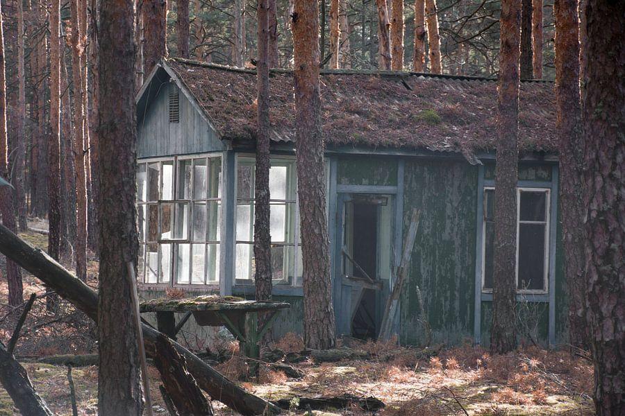 Schoolkamp terrein vlakbij Chernobyl