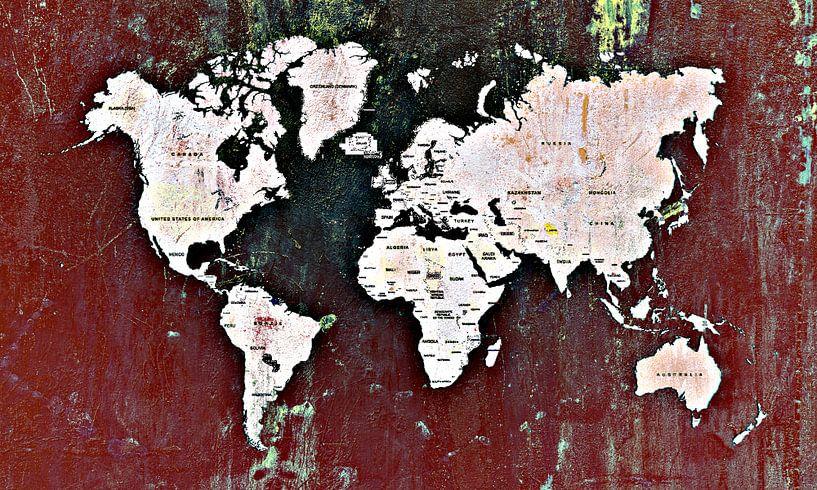 World map dark sur PictureWork - Digital artist