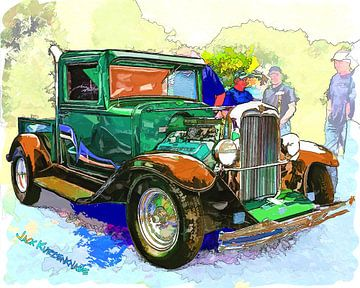 Chevrolet Pickup Streetrod 1930's sur Natasja Tollenaar