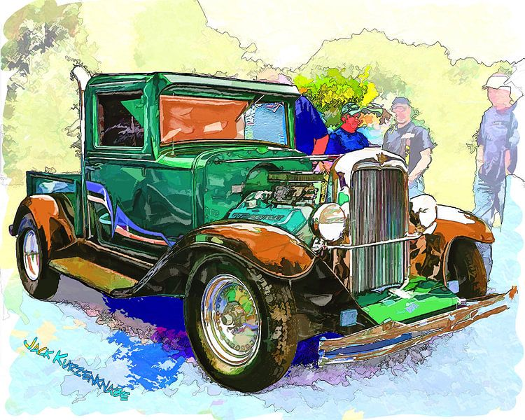 Chevrolet Pickup Streetrod 1930's van Atelier Liesjes