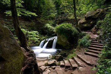 Schiessentümpel waterval in klein zwitserland,Echternach , Luxemburg van Bart cocquart