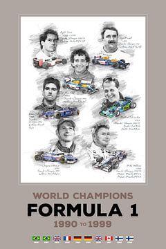 Formule 1-wereldkampioen van 1990 tot 1999 van Theodor Decker
