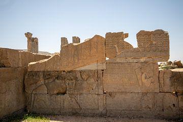Afbeeldingen op stenen in Persepolis, Iran von