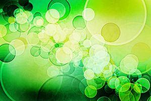 Bokeh lime green