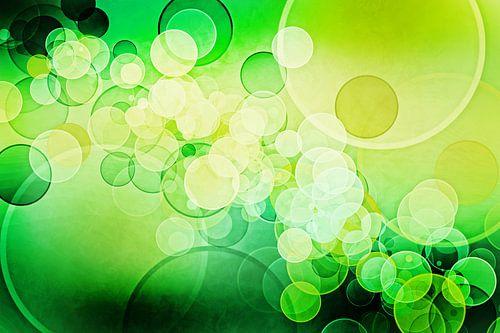 Bokeh lime green van