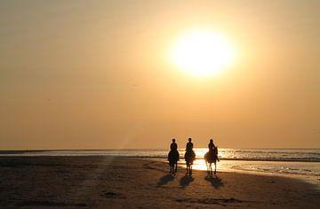 Zonsondergang aan de Zeeuwse kust van Tineke Mols
