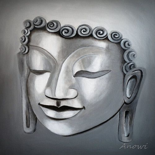 Buddha Face von Iwona Sdunek alias ANOWI