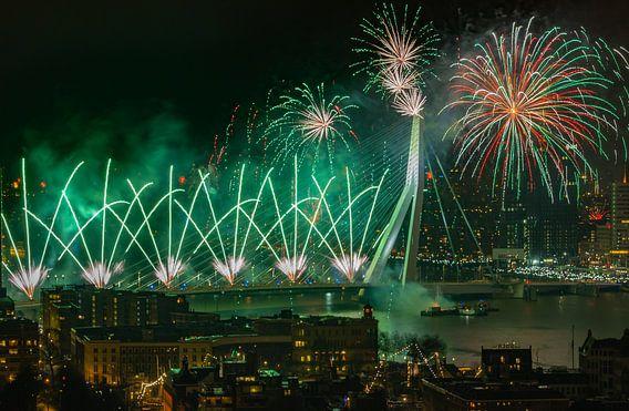 Vuurwerk in Rotterdam