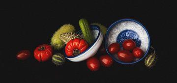 Stillleben-Gemüse von Mei Bakker