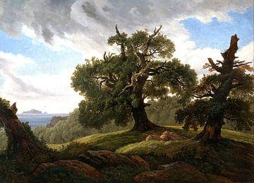 Carl Gustav Carus.Landschaft entlang der Elbe