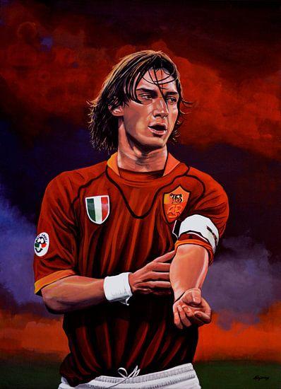 Francesco Totti schilderij