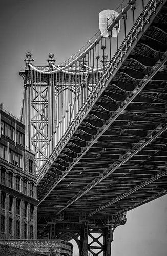 Manhattan Bridge (New York) in Zwart-Wit
