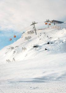 Gondel in Skigebied Zillertal, Oostenrijk van