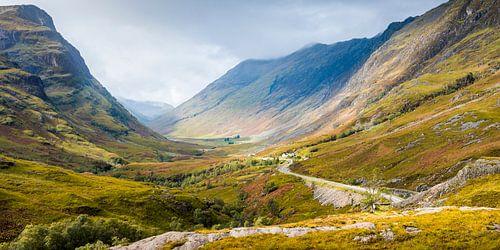 De pas naar Glencoe in de Schotse highlands