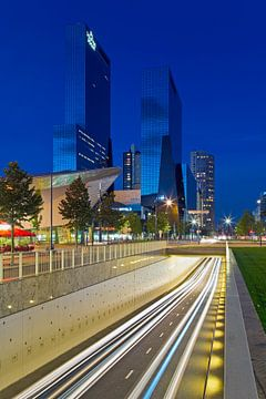 Rivier van licht in Rotterdam