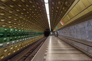 Malostranská metrostation in Praag, Tsjechië - 2 van
