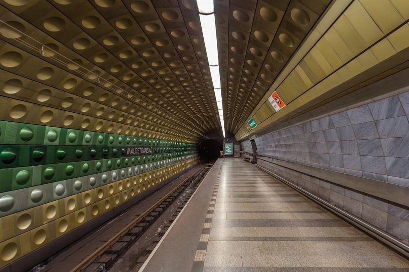 Malostranská metrostation in Praag, Tsjechië - 2 van Tux Photography
