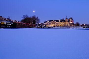 De Koninklijke Nederlandse Munt in de winter in Utrecht (2) van Donker Utrecht