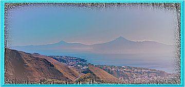 Panorama van het vulkaaneiland La Gomera in het bijzonder van kanarischer Inselkrebs Heinz Steiner