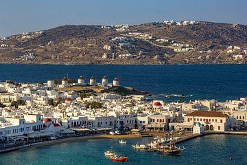 Uitzicht op Mykonos, Griekenland van Adelheid Smitt