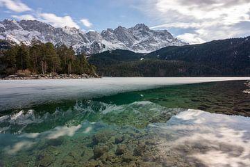 Eibsee in de winter van Einhorn Fotografie