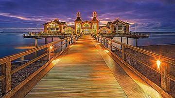 Sonnenaufgang Sellin Pier, Rügen von Henk Meijer Photography