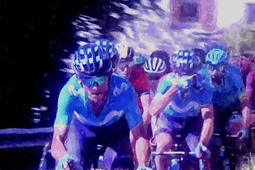 Wielrennen kopgroep in de Tour de France van Paul Nieuwendijk