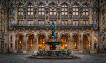 La cour de l'hôtel de ville de Hambourg sur Sabine Wagner