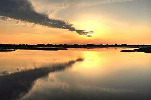 zonsondergang van Jan Roelof Brinksma