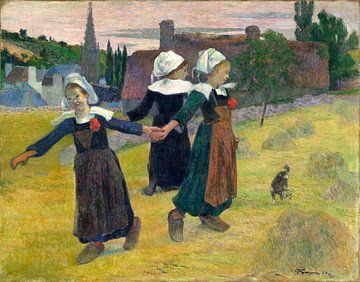 bretonischer Mädchen Tanzen, Paul Gauguin von