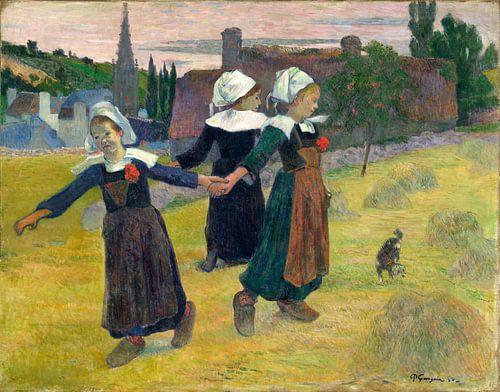 Bretonse Dansen, Pont-Aven, Paul Gauguin