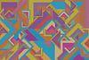 Abstrakte Arbeit mit Dreiecken 'Herbst'. von Ton Kuijpers Miniaturansicht