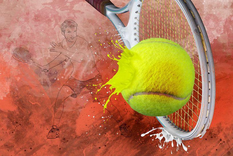 Sport trifft Splash - Tennis von Erich Krätschmer