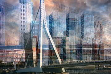Rotterdamse skyline van Dennisart Fotografie