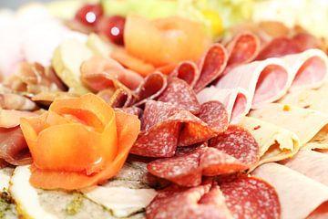Partyservice: Koude schotel met kaas, ham en druiven van Udo Herrmann