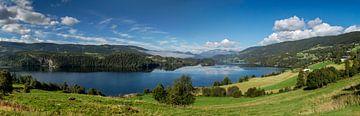 Uitzichtpunt Vestre Slidre, Noorwegen van Adelheid Smitt