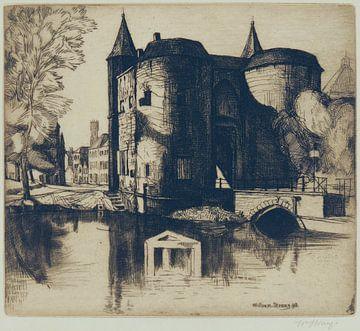 William Strang, Gentpoort, Brugge - 1898 van Atelier Liesjes
