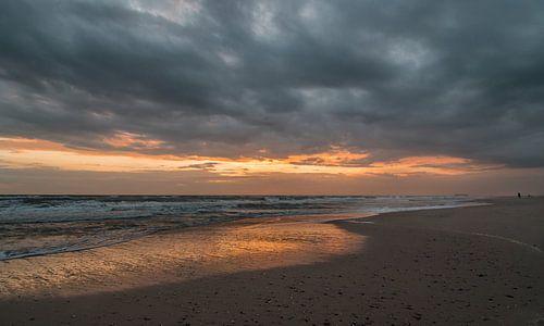 Zonsondergang Maasvlakte van
