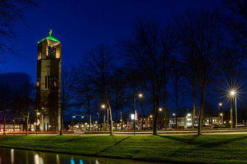 Emmeloord in de avond sur Sjoerd van der Wal